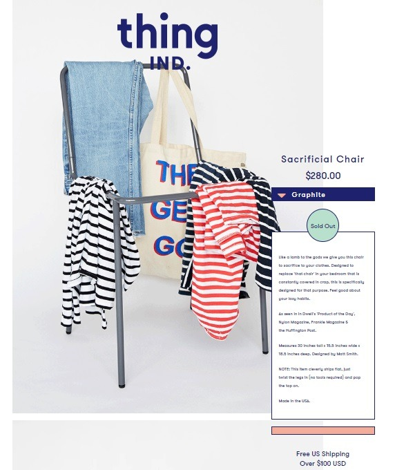thing IND product description example
