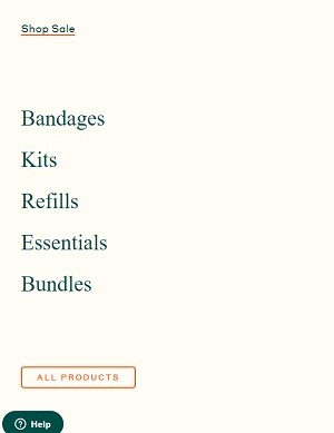 welly ecommerce category menu design