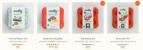 welly ecommerce product name and copy