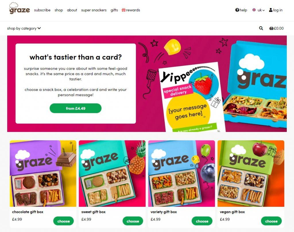 graze online store design example