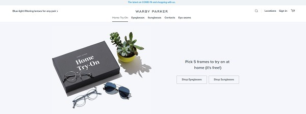warby parker try before you buy frames