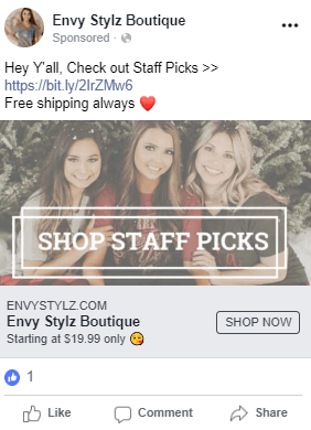 winning facebook campaign example
