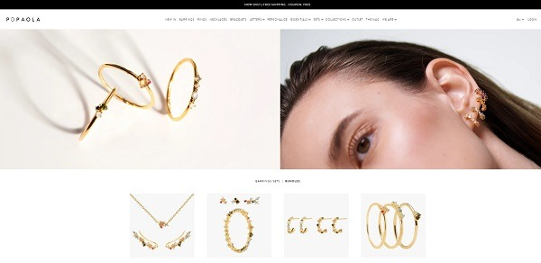 PDPAOLA online jewelry store example