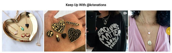 kris nations online jewelry store example