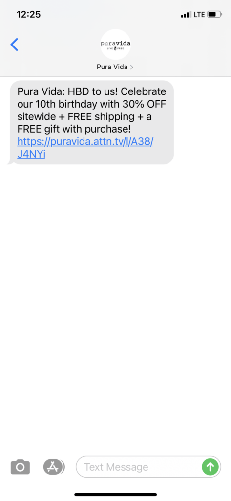Pura-Vida-Text-Message-Marketing-Example
