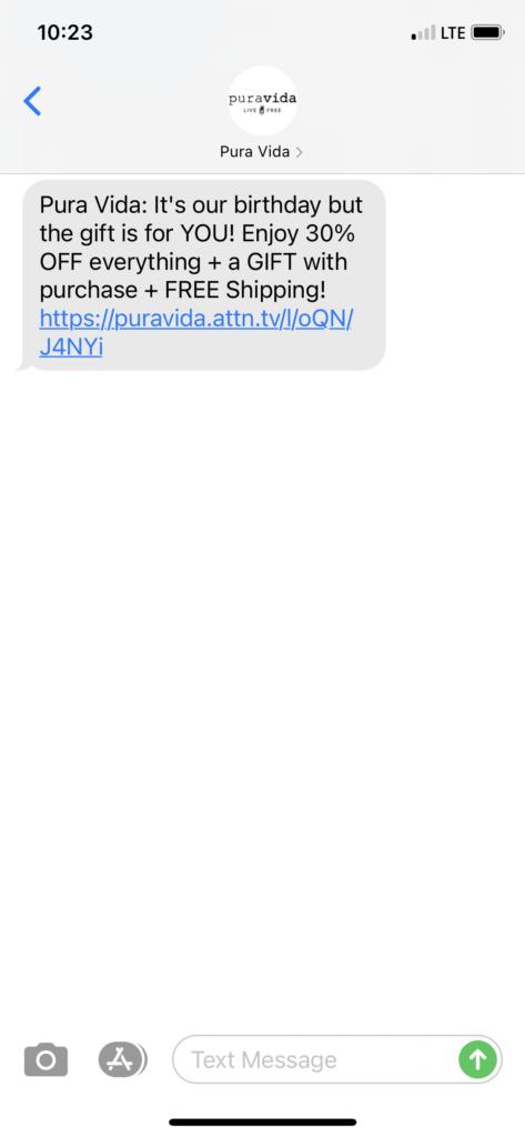 Pura-Vida-Text-Message-Marketing-Example