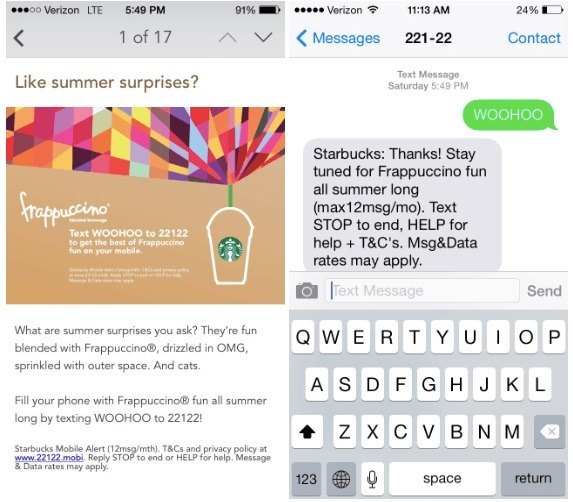 Starbucks-SMS-Example