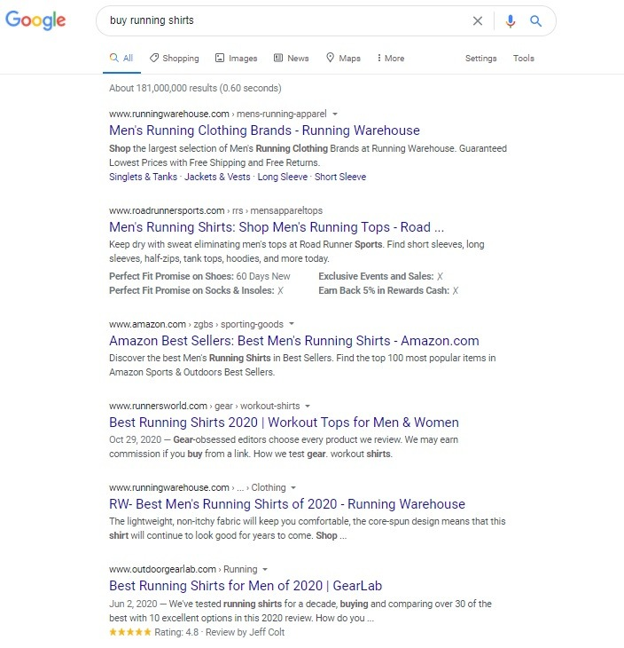 google search keyword research
