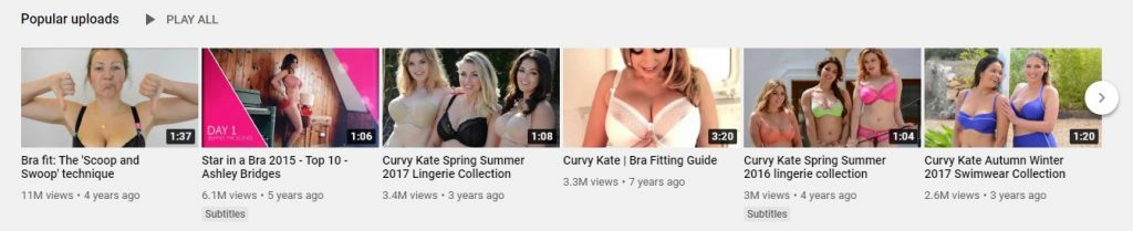 curvy kate eCommerce YouTube channel example 2