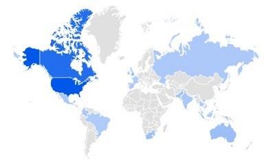 CBD tincture trending product per region