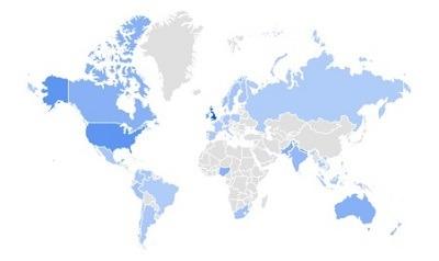 Joggers google trending product per region