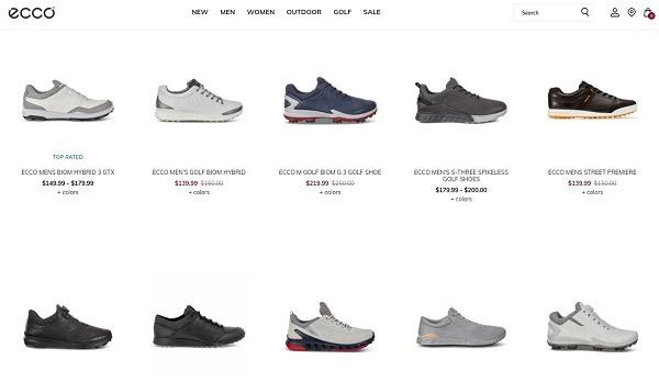 best online golf shoe store ecco