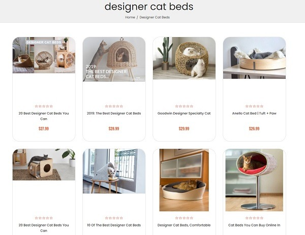 designer cat bed examples