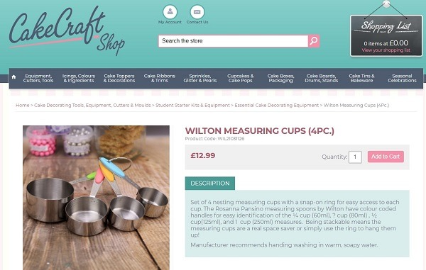 online baking tools store