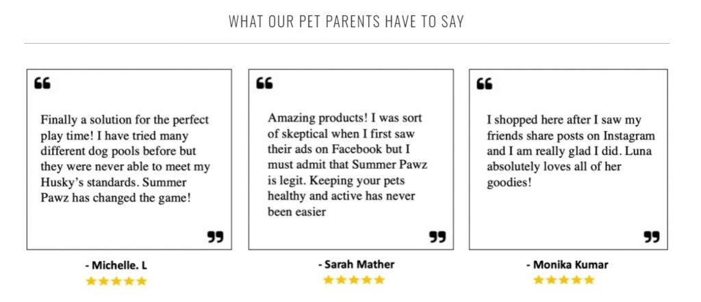 pet store review display example