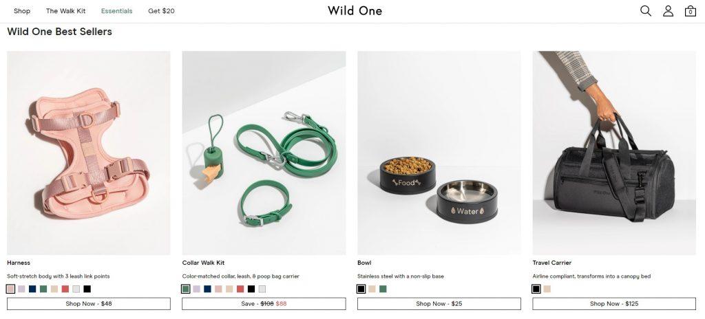wild one online pet store example