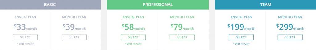 SpyFu pricing options